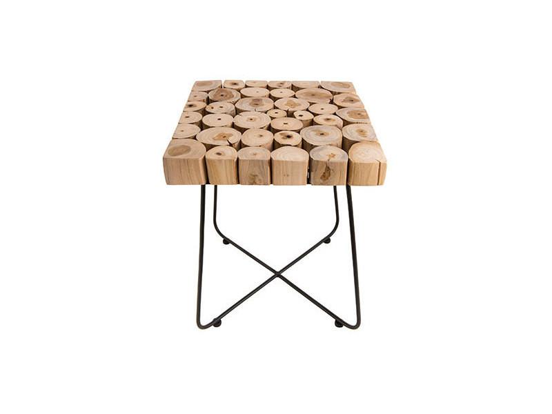 Table d'appoint carrée 41 cm en teck naturel