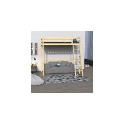 lit superpos et mezzanine 140x190 cm conforama. Black Bedroom Furniture Sets. Home Design Ideas