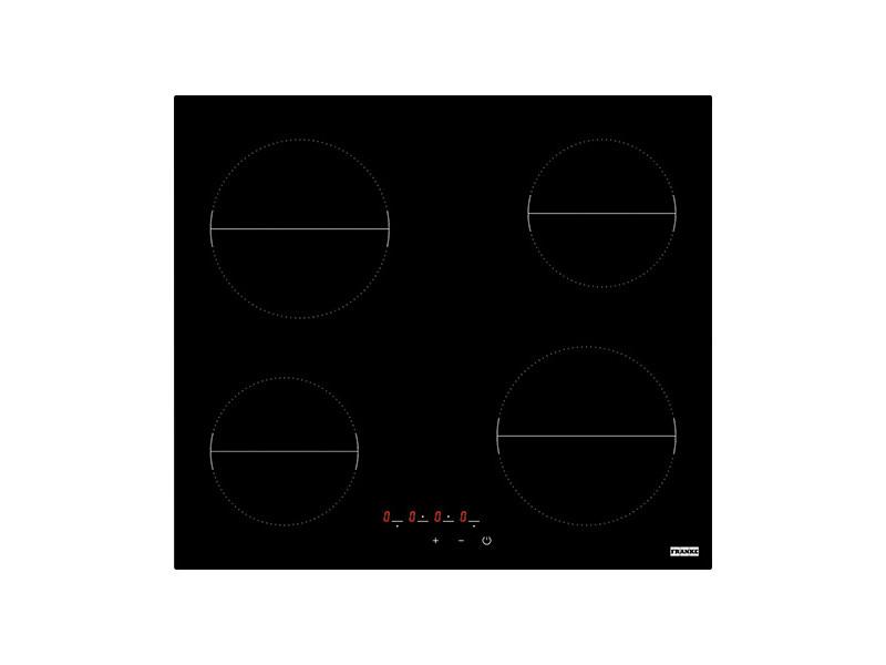 Table de cuisson vitrocéramique franke fhr 604 ct bk 4 foyers noir FHR 604 CT BK