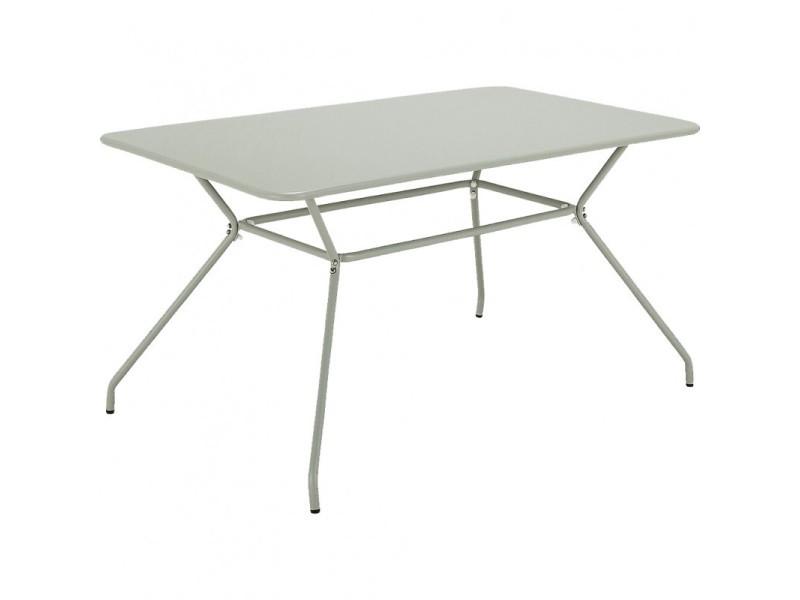 Table de jardin rectangulaire 8 places en aluminium vert - olia 1880