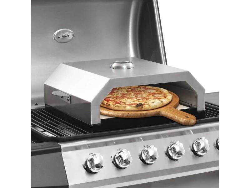 Joli grils électriques et grille-pains gamme saint john's four à pizza avec pierre en céramique pour barbecue au charbon