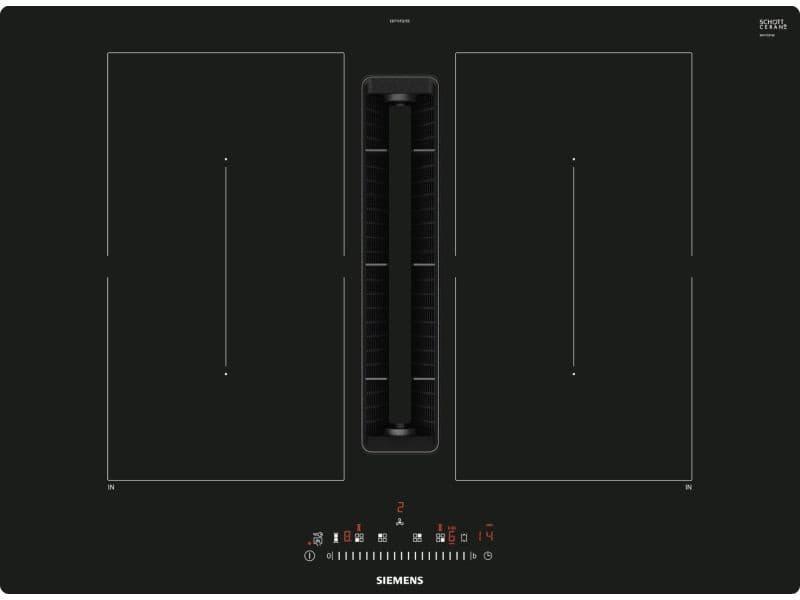 Table de cuisson aspirante induction 70cm 4 feux 7400w noir - ed711fq15e ed711fq15e