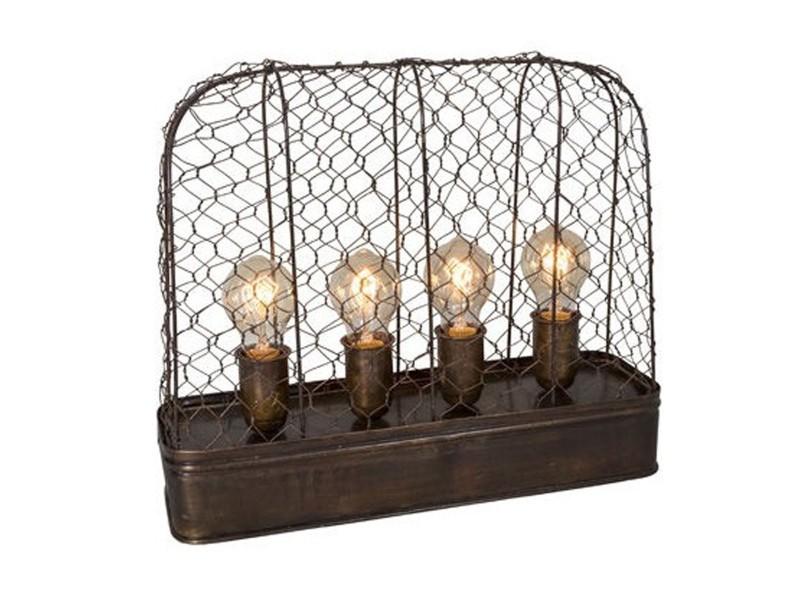 Style Métal 4 Grillagé Vente À De Industriel Ampoules Lampe Poser qSMUzGVp
