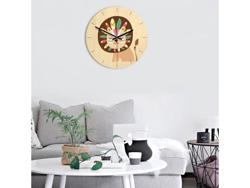Horloge murale décoration de chambre à coucher modèle lion ...