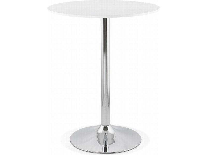 Table haute bar design lynn BT00170WH