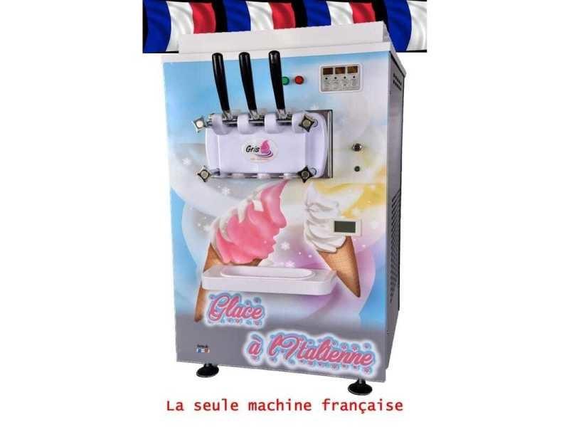 Machine à glace italienne de comptoir - 2 parfum et 1 mélange