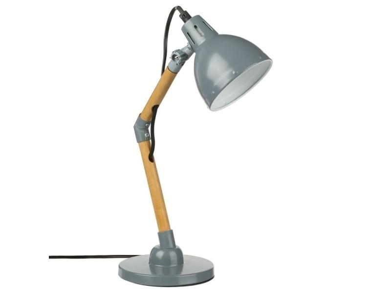Joli Lampe Lampes Bureau Gris Métallisé Poser Vente À De jL5qAcS34R