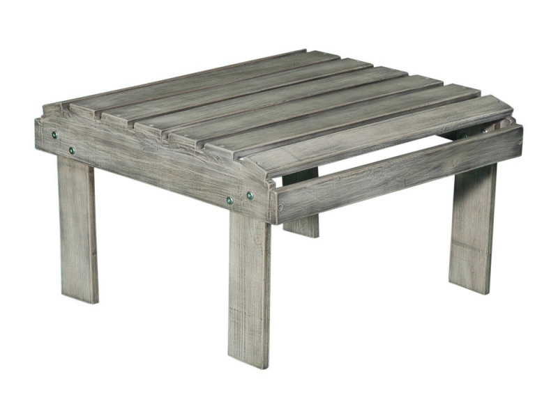 Table basse / repose pieds en bois acacia gris riverhauk - Vente de ...