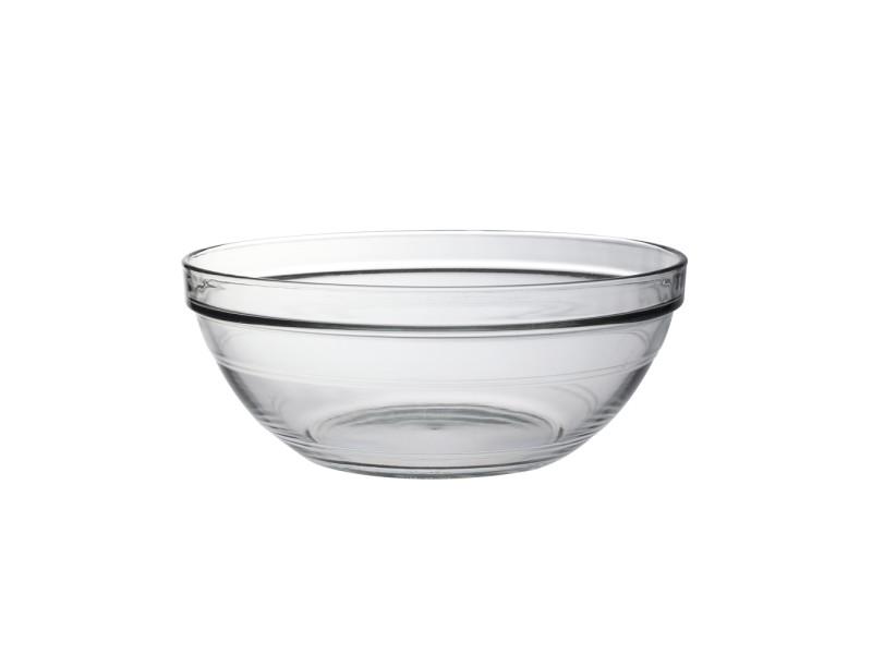 Duralex - saladier lys empilable transparent 26 cm - 345 cl