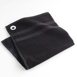Torchon essuie-main éponge uni délice noir 50 x 50 cm
