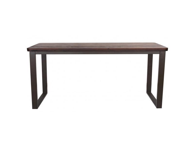 Nevada - table repas 180 cm bois massif foncé
