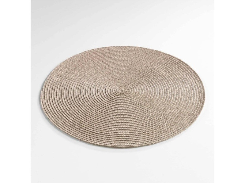 Set de table rond 35 cm polypropylene zebulon taupe