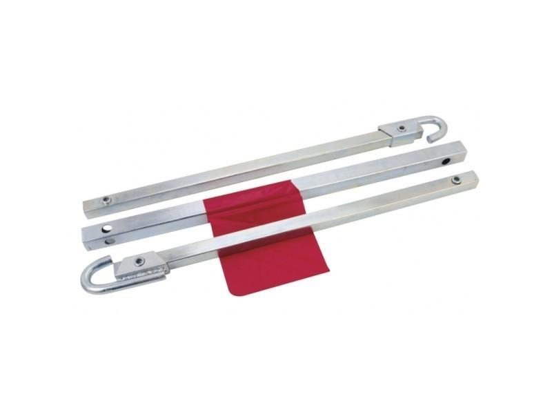 Barre de remorquage charge utile 1.8 tonnes enclenchement automatique sans outils acier galvanisé x 2 outils atelier bricolage helloshop26 3417018