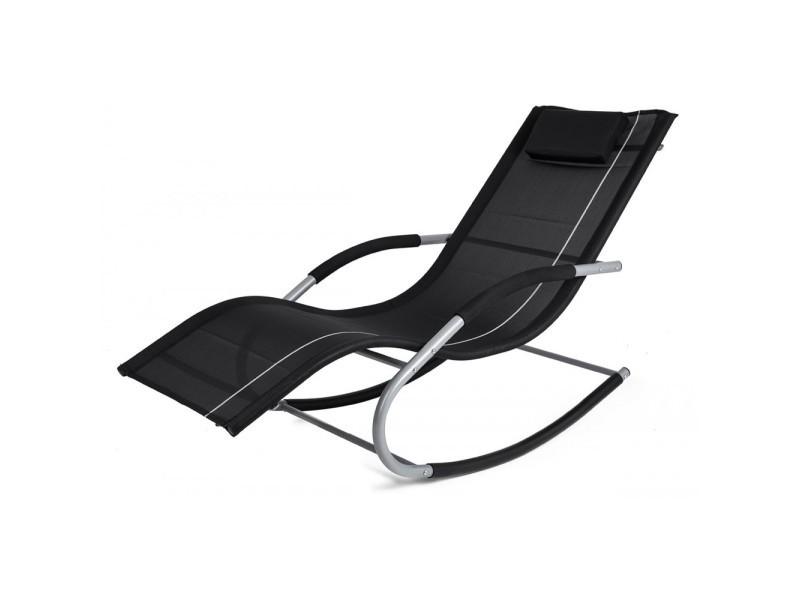 transat bascule jawa rock fauteuil piscine jardin noir hkjawarock noir vente de homekraft. Black Bedroom Furniture Sets. Home Design Ideas