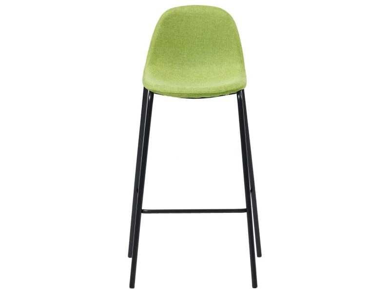 Vidaxl chaises de bar 4 pcs vert tissu 281534 Vente de