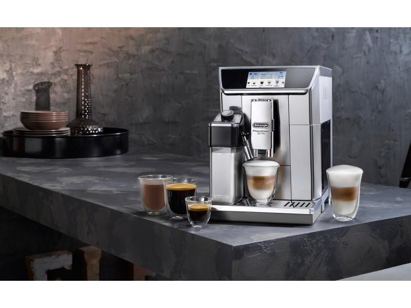 Machine à expresso automatique avec broyeur connecté pour café en grains et moulu 1450w gris noir