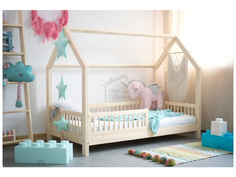 lit cabane b 70x140cm sommier vente de monlitcabane conforama. Black Bedroom Furniture Sets. Home Design Ideas