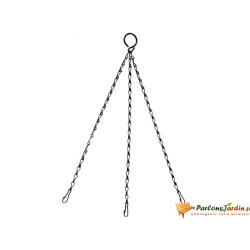 Chaînette de suspension noire 40cm pour corbeille suspendue