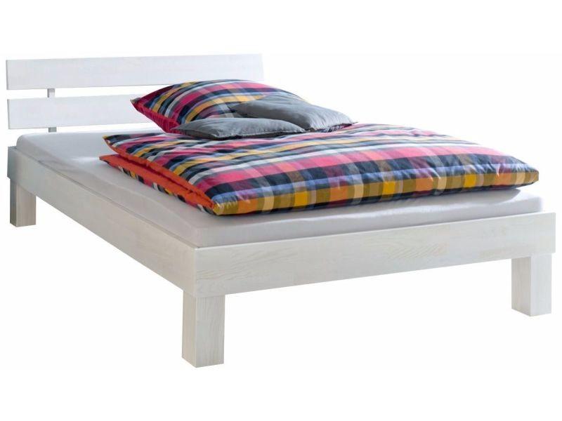 lit 180x200 cm en bois de ch ne massif blanchi et huil p 20612 co c rajala conforama. Black Bedroom Furniture Sets. Home Design Ideas