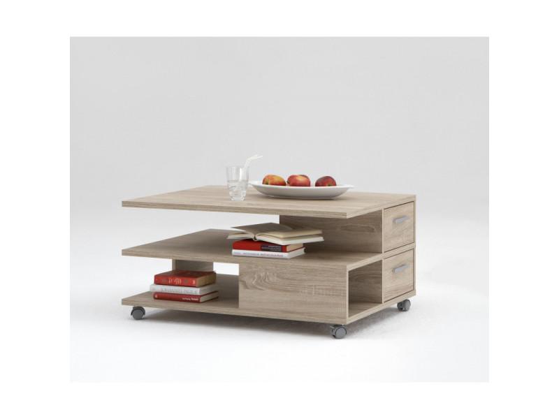 Table basse contemporaine chêne clair marissa
