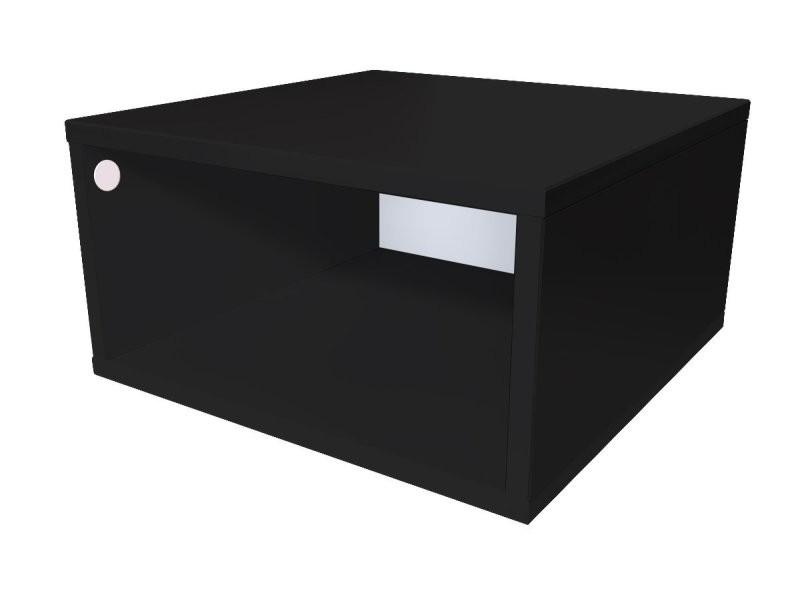 Cube de rangement bois 50x50 cm 50x50 noir CUBE50-N