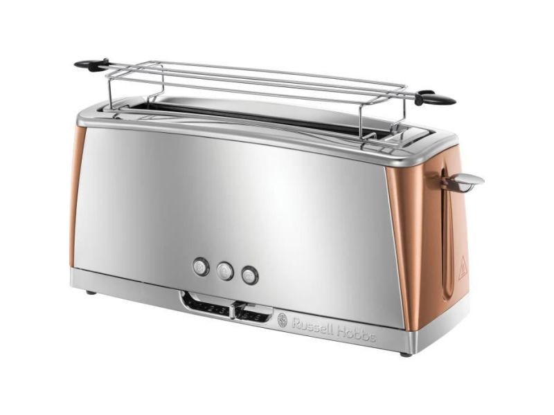 Russell hobbs 24310-56 - grille-pain gris - technologie fast toast - inox + cuivre rose RUS4008496940264