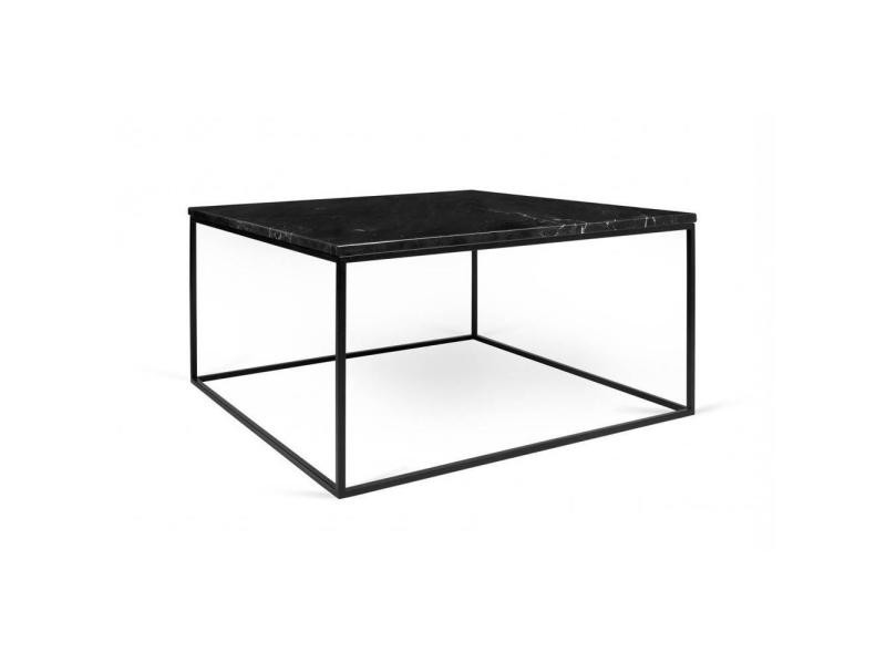 table basse rectangulaire gleam 50 plateau en marbre noir structure noire 20100865051 vente de. Black Bedroom Furniture Sets. Home Design Ideas