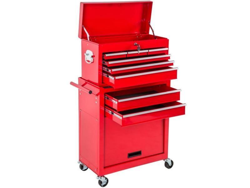 Servante d'atelier 8 tiroirs rouge helloshop26 3408118