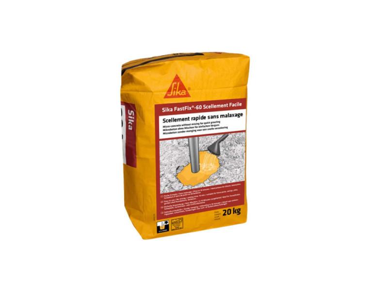 Micro-béton pour scellement facile sika fastfix-60 - 20 kg 618912