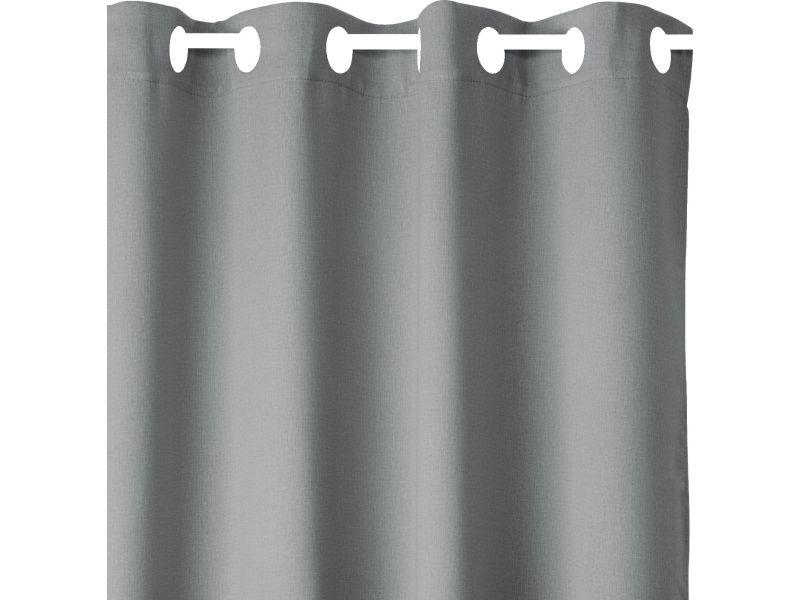 2 rideaux occultants louna - 135 x 240 cm - gris foncé