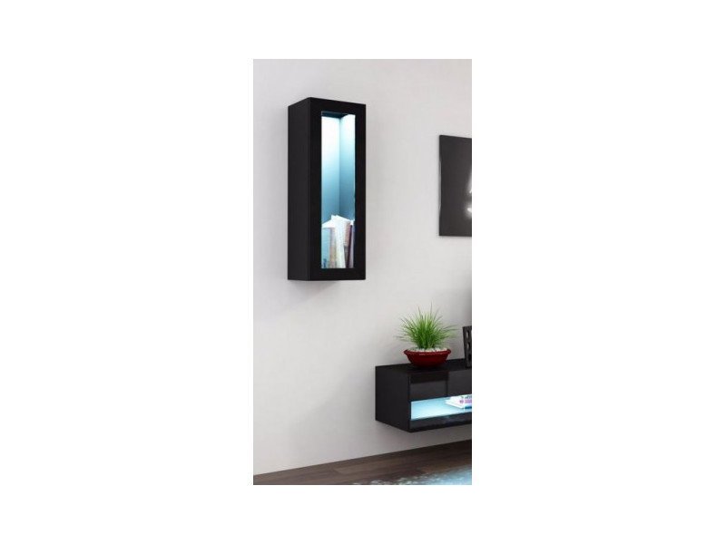 Vitrine set, noir ou blanc 90cm - couleur: noir