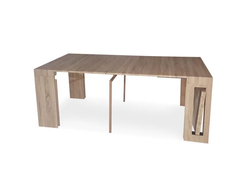 Conforama Chêne Extensible Chay Vente Menzzo Console De Clair Table 0P8NZnwXOk