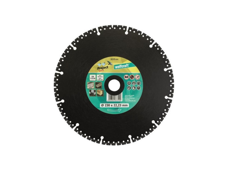 Wolfcraft disque diamant pro multi - diametre: 230 mm