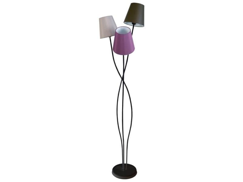 Tosel-lille; lampadaire, 3 lumière (s); orange, blanc, noir, rouge, violet, bleu, jaune, créme, taupe, marron TOS5603950507619