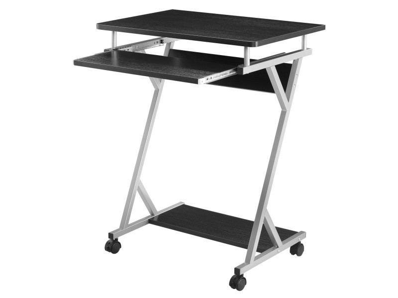 En.casa]® bureau dordinateur roulant table informatique avec