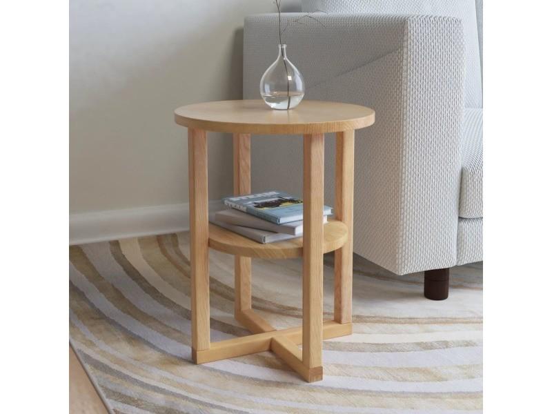 Vidaxl table d'appoint 40 x 50 cm bois de chêne massif 247044
