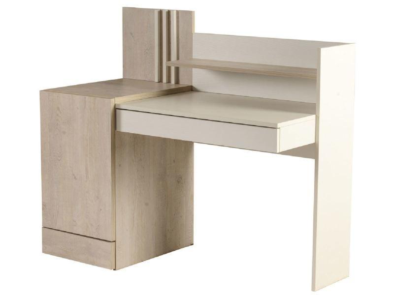 bureau enfant 130 cm avec 2 tiroirs 1 porte 1 tag re. Black Bedroom Furniture Sets. Home Design Ideas