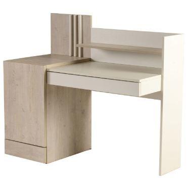 bureau enfant 130 cm avec 2 tiroirs 1 porte 1 tag re coloris ch ne blanc vente de. Black Bedroom Furniture Sets. Home Design Ideas