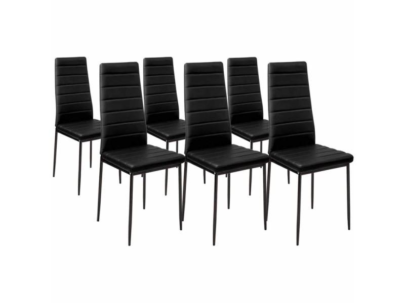 Chaise De Salle A Manger Conforama.Lot De 6 Chaises Romane Noires Pour Salle A Manger Vente