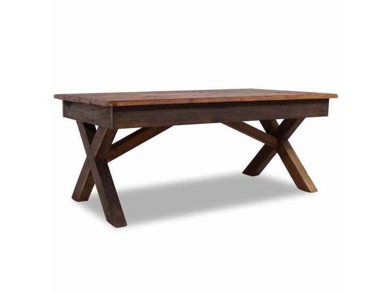 Contemporain consoles selection saint-georges table basse bois de récupération massif 110 x 60 x 45 cm