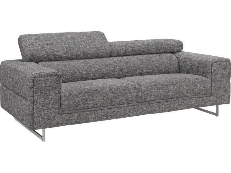 canap moderne 3 places en tissu gris chin avec t ti res street 3 vente de delorm conforama. Black Bedroom Furniture Sets. Home Design Ideas