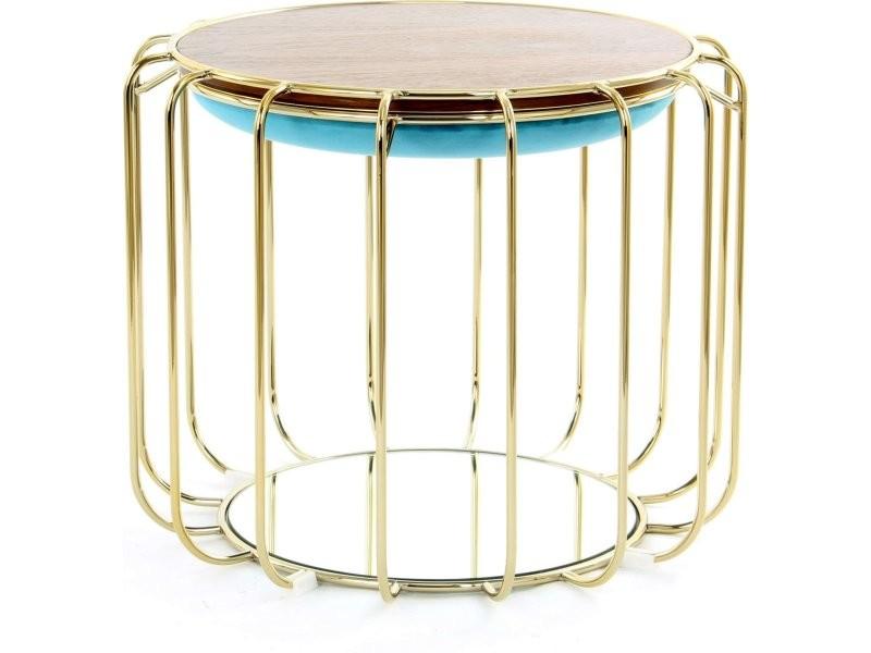 Pouf reverse table d'appoint confortable gold ONCA6