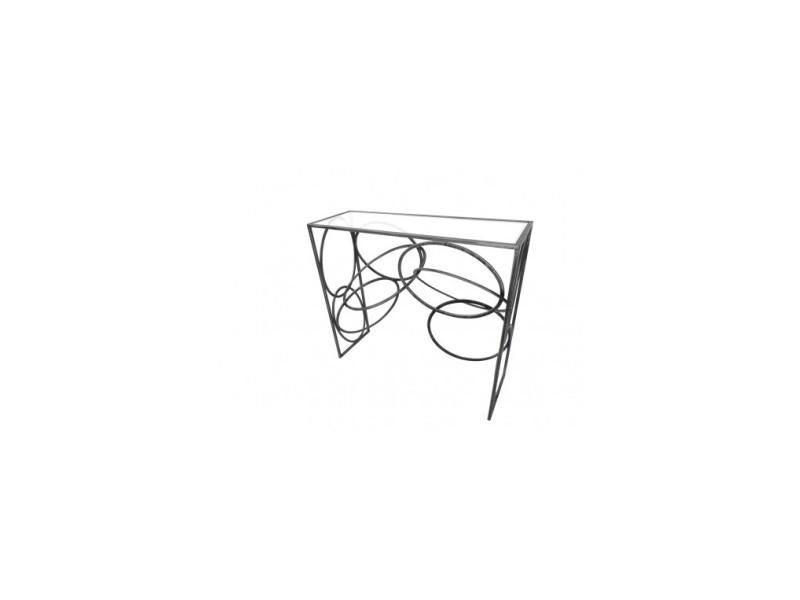 Console design cercle métal art de fer