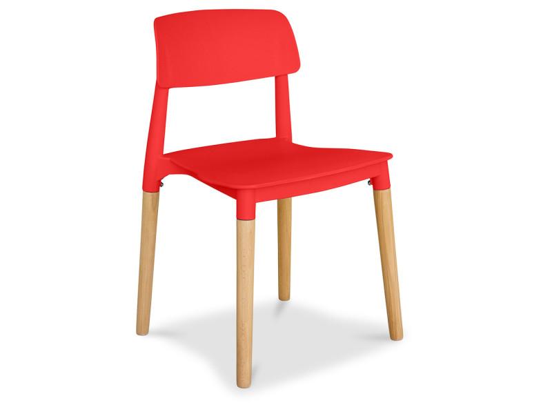 Chaise de salle à manger style scandinave - beni rouge ...