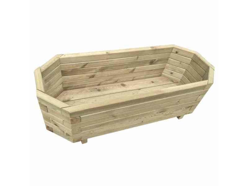 Icaverne - pots et cache-pots ensemble jardinière 100 x 40 x 31 cm bois de pin imprégné