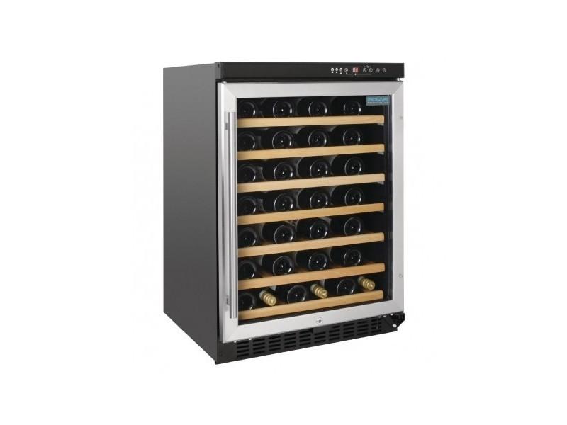 Cave à vin avec porte inox 54 bouteilles - polar - r600a