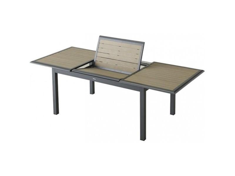 Table extensible rectangulaire azua composite 6/10 places taupe ...