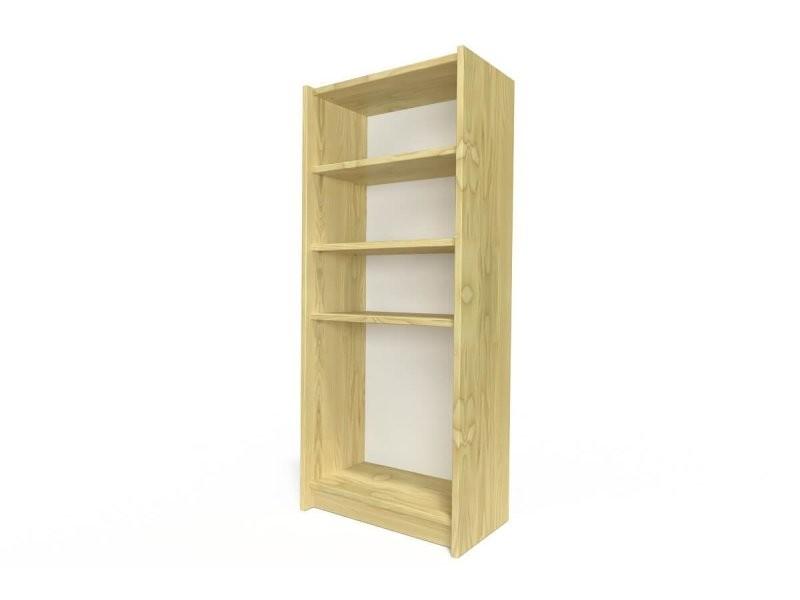 Étagère bibliothèque bois miel ETABIB-M