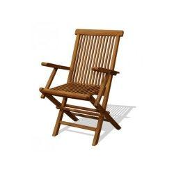 Lot de 2 fauteuils matera en teck brut - l 59 x l 55 x h 90