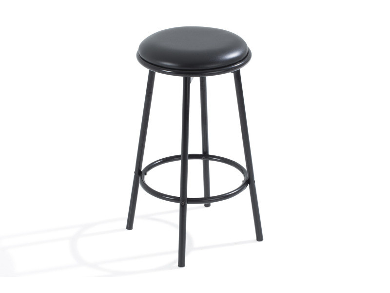 Fixe Simili Bar Tabouret Et Vente De Noir Karl 3q5j4LRA